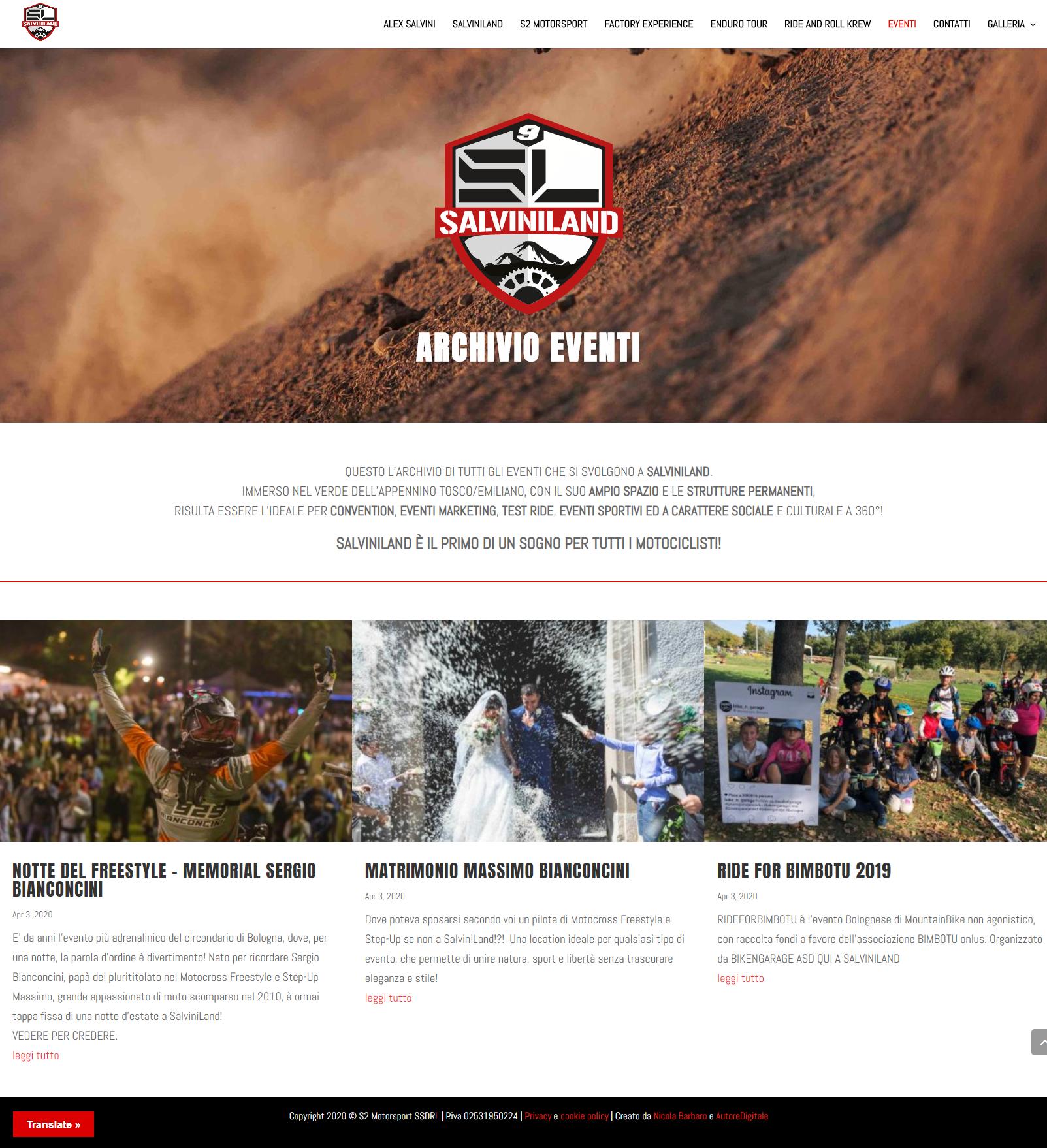 Realizzazione siti web aziendali - Salviniland - AutoreDigitale ©